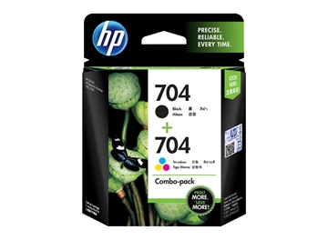 HP 704 2-pack Black/Tri-color Original Ink Advantage Cartridges
